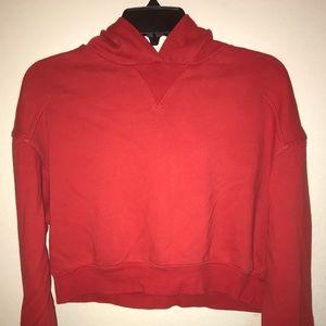Red Crop Top Hoodie